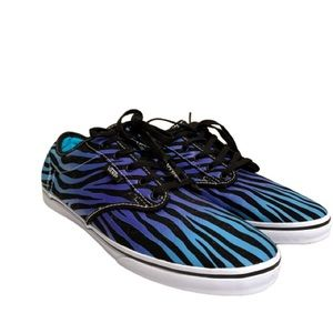 Vans Womens 10 Blue Purple Tiger Stripe Shoes